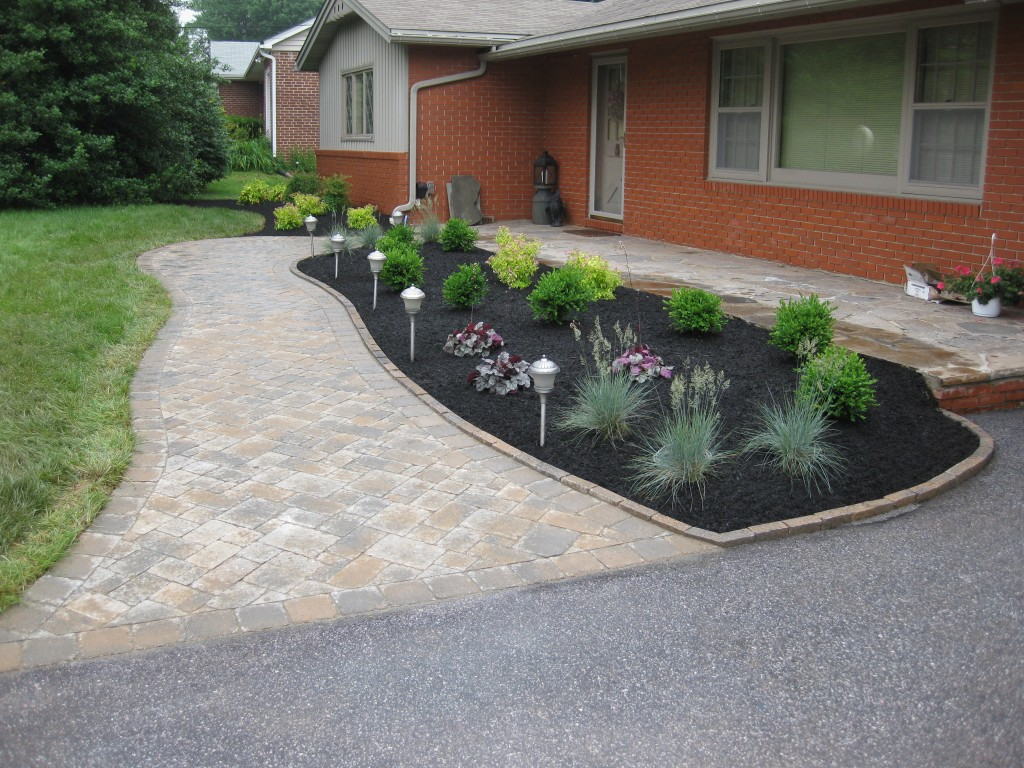 Patio, Walkway and Landscaping After