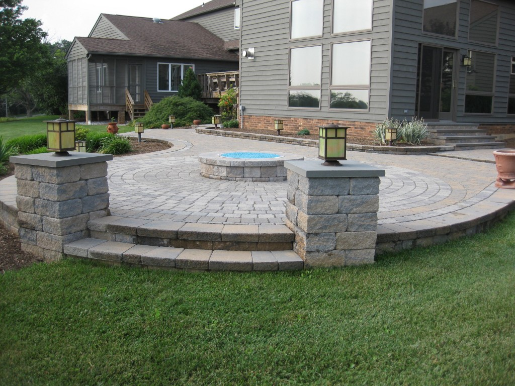 Outdoor Fire Pit and Patio After